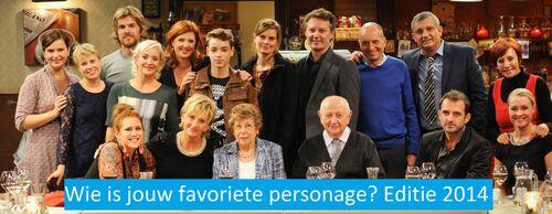 Wie is jouw favoriete personage? Editie 2014