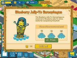 Blueberry jelly-yo sarcophagus