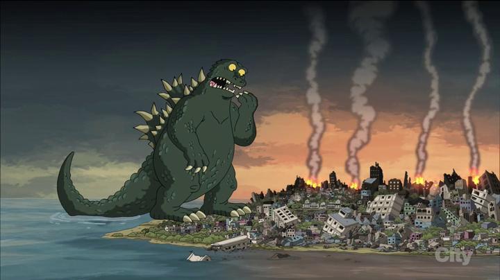 Godzilla   Family Guy Wiki   FANDOM powered by Wikia Quagmire And Meg