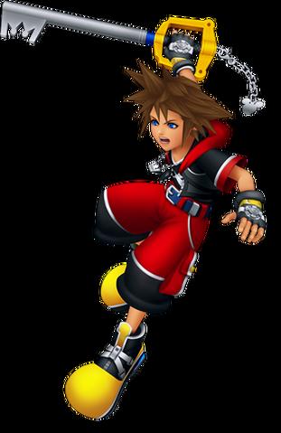 File:Sora Battle (Kingdom Hearts 3D).png