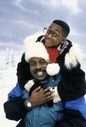 Reginald and Jaleel in the snow
