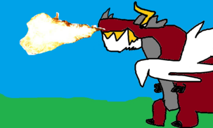 Giganotometallasaurus flame breath-0