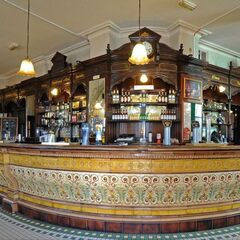 The Bull and Politician pub on the High Street, known for having a completely original bar, Minton floor, coaving, etc. In the floor above are offices for <a href=