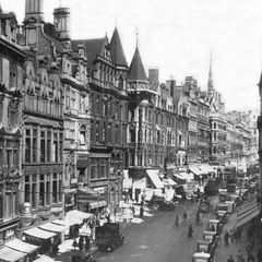 Apoditice Street, 1927; all of the buildings in this photo remain, Stonebrook