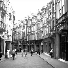 Elven Street, Avenir, which was luckily preserved after a battle in 1962, the year this photo was taken. New buildings were constructed all around this once-quaint area.