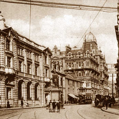 Gove Street in 1903, when the street had cherry blossoms planted and its pavements (soon hereafter) widened. The street is now very busy, with many of the old Edwardian and Georgian buildings being converted into stylish new apartments and offices.