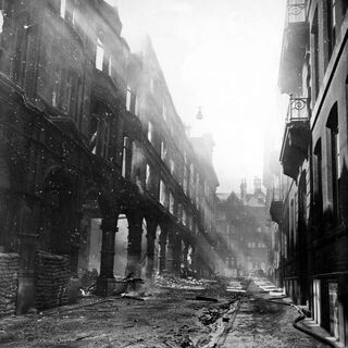 Yet another photo of bomb damage in the Avenir city centre, this air raid being of Joshua Street. The building hit was saved, despite being shelled, and repaired.