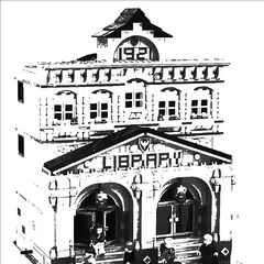 The Ambrose Hill Library, which stands on the High Street