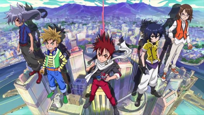 Cross Fight B-Daman eS Main Characters