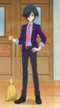 Naoto Teacher and the broom