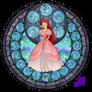 Ariel s stained glass window by akili amethyst-d3j2gx8