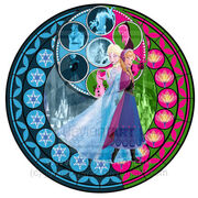Kingdom hearts elsa and anna stain glass window by jesuslover22-d6il00d