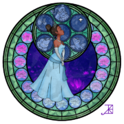 Tiana s stained glass window by akili amethyst-d3ewa0f