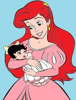 Ariel and her baby melody