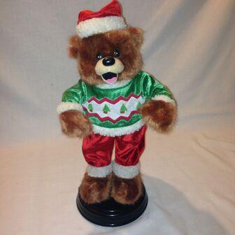 GEMMY DANCING CHRISTMAS BEAR Singing Dancing SHAKE YOUR BOOTY