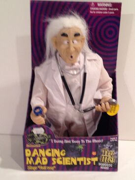 Singing Mad Scientist Doctor Physician Toy Sings ''Evil Way'' By Clarence Henry