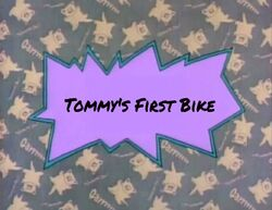 Tommy's First Bike title card