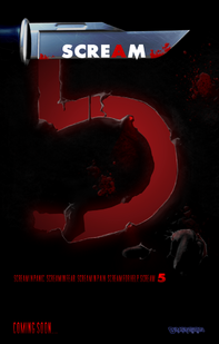 Scream 5 poster by blackisalovelycolor-d49di73