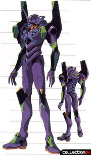 Evangelion Unit-01 front and back views