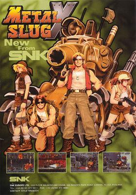 Metal Slug X Arcade Flyer