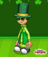 Michael during St. Patricks Day