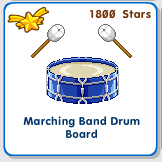 Marching band blue drum