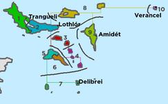 Administrative regions of Achróa
