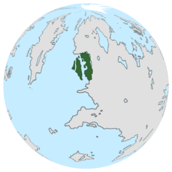 Location of the United Lands of Jarea on the globe.