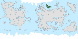 Location of Gallifrey on the world map.