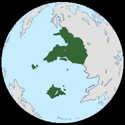 Location of Vradiazi on the globe.