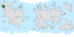 Location of Dýria on the world map.