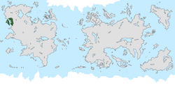 Location of the United Lands of Jarea on the world map.