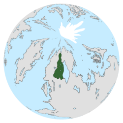Location of Golden Land on the globe.