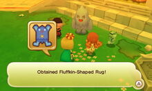 Fluffkin-Shaped Rug