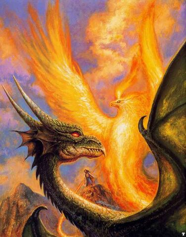 File:Bob Eggleton - Unknown - A black dragon and a phoenix.jpg