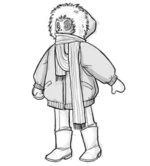 Warmly bundled wanderer