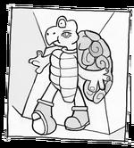 Avant garde turtle koopa