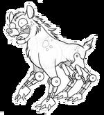 Hydraulic hyena