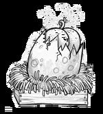 Spoiled porkin egg