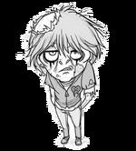 Emo zombie boy