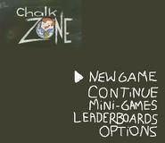 ChalkZone PSX, N64, DC Main Menu