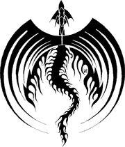 Black Dragon Icon Symetric by FlipWardDragon