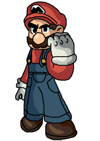 File:SSBM! Artwork - Mario.PNG