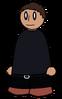 Pants Black Belted Generic