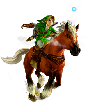 File:Link and Epona OoT 3D.png