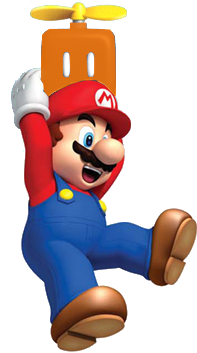 File:Mario with a Propeller Box.png