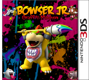 Bowser Jr Graffiti Mayhem Box Art