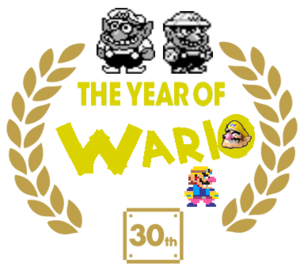 The Year of Wario Logo