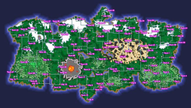 Pokemon Map Labeled