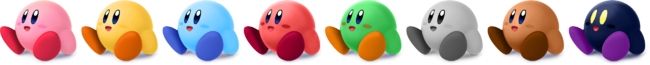 SSBRiot Kirby Color Palettes